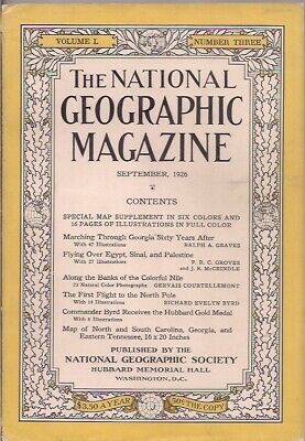 national geographic-SEPT 1926-FLYING OVER EGYPT,SINAI, AND PALESTINE.