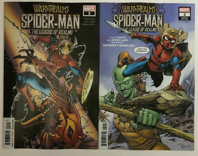War of the Realms Spider-Man and the League of the Realms #3B D/'Alfonso VF