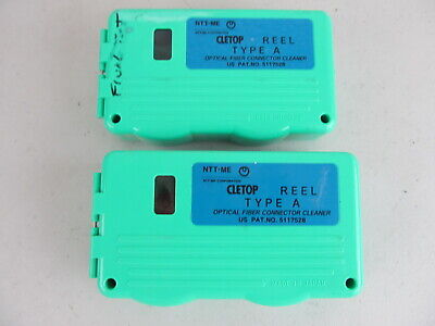 Cletop Type A Reel Fiberoptic Connector Cleaner QTY=2