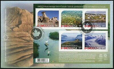 Canada 2015 Unesco Heritage error stamp #2844 the First Day Cover FDC