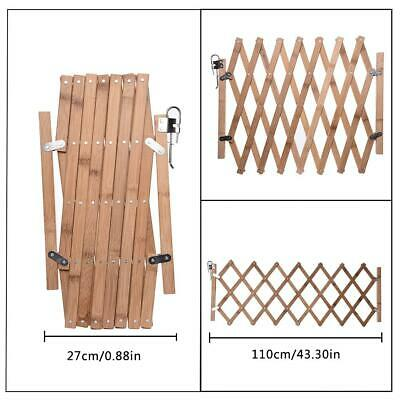Expanding Wooden Dog Safe Fence Pet Freestanding Trellis Gate Sliding Door Retra