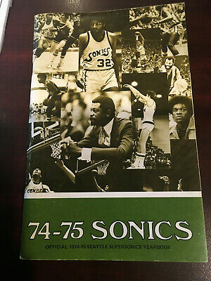 18910da084c Seattle Supersonics 1974-1975 Media Press Guide Bill Russell Haywood Brown  Watts