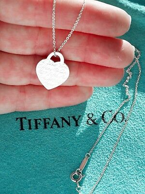 34f32460d Tiffany & Co Sterling Silver NOTES New York Heart Tag Charm Pendant Necklace