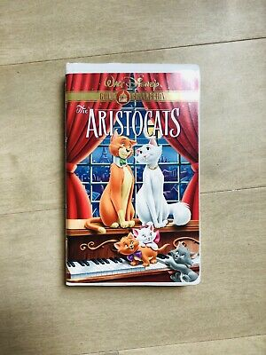Walt Disney The Aristocats VHS Gold Classic Collection Rare!