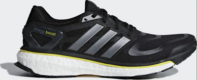New adidas Energy Boost M Black Yellow Iron Running Shoes Mens G64392