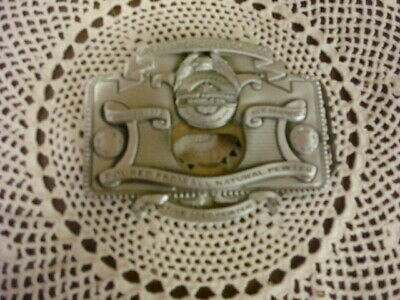 The Great American Buckle Company Fine Aged Pewter Belt Buckle, 2004, #4556