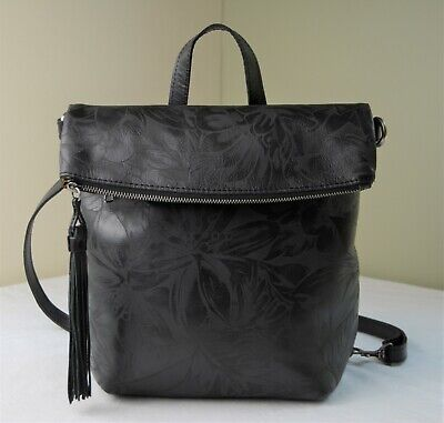 Patricia Nash Blush Luzille Washed Denim Leather Backpack