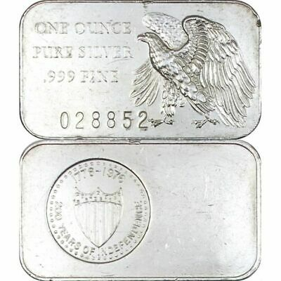 1972 Madison Mint 200 Years of Independence, 1 oz Silver Bullion Bar .999 Fine
