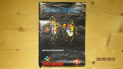 The Blues Brothers Nintendo SNES Instruction Manual Booklet