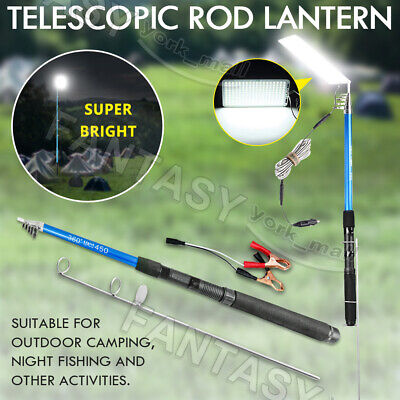 5M 500W Portable Telescopic Fishing Rod Pole Camping Lamp Car Repair LED Light