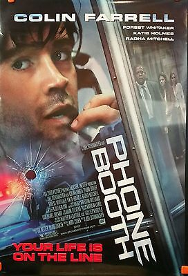 Phone Booth 2002 Movie Theatre Poster Colin Farrell Katie Holmes Forest Whitaker