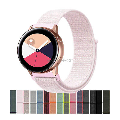 20mm Woven Nylon Sport Loop Watch Band Strap For Samsung Galaxy Watch Active