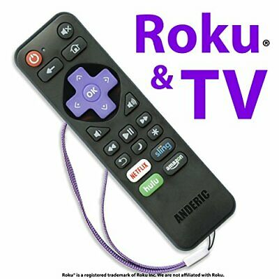 Anderic RRST01 Standard IR Roku Universal 2-in-1 Remote Control with Learning -