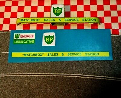 Matchbox Lesney  MG-1  BP  SERVICE STATION Full Set of stickers only (No Singe)