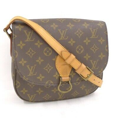 8775ba55c55f9 LOUIS VUITTON ST. Cloud Tasche Overcross Braun Beige Saddle Bäh ...