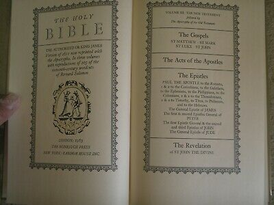 The Holy Bible - Volume Iii - The New Testament - Followed By The Apocrypha