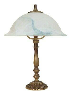 Beautiful Art Nouveau Brass Lamp Berlin Murano Glass Desk Light