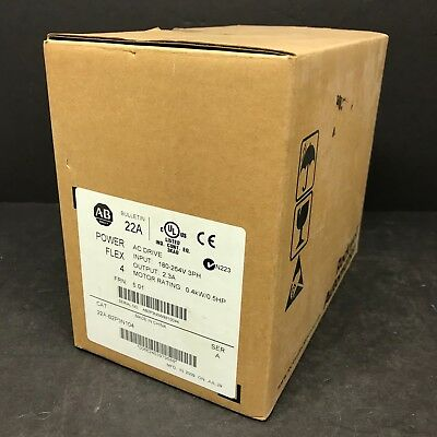 New Sealed Bag Allen Bradley 22A-B2P3N104 PowerFlex 4 AC Drive 1/2 HP 480V 2009
