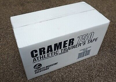 New CRAMER 750 Athletic Trainer's TAPE - 32 Rolls - 100% Zinc Oxide - Latex Free
