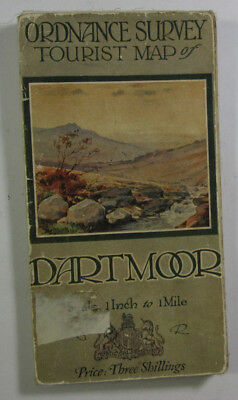 Old Vintage 1924 OS One Inch Special Tourist Map Dartmoor Ordnance Survey