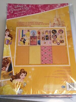 Disney A4 Paper Kit Beauty and The Beast Backgrounds, Die Cut character Sheets