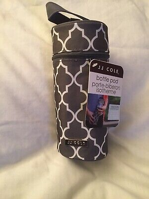 JJ Cole Single Bottle Pod Cooler Insulated J00799 Stone Arbor Dark Grey New