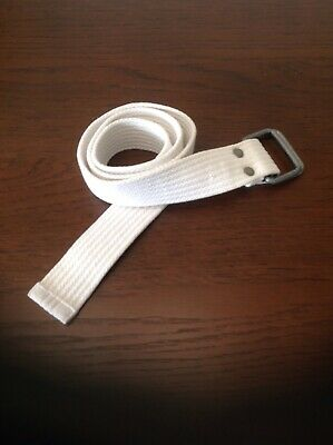 Boys White Fabric Belt