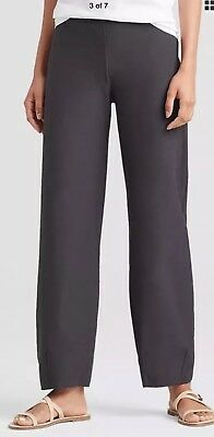 NWT EILEEN FISHER Stretch Graphite Crepe Slim Yoke Ankle Pants$168 XS S M