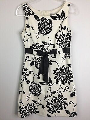 52d6d074c85d Jessica Howard Dress Women's Size 8, Black on White Floral Print, Sleeveless