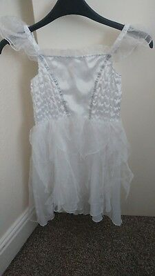 White Playtime Fairy Dress With Wand Age 8-9 Years