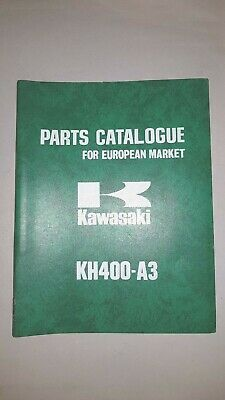 KAWASAKI KH 400 A3 1975 catalogo ricambi originale moto spare parts catalogue