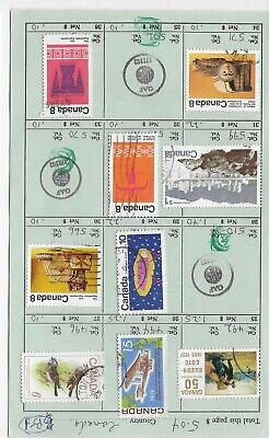 Canada  Stamps Used  light cancels Scott 492 494 496 529 566 599 564 571 573 /B1