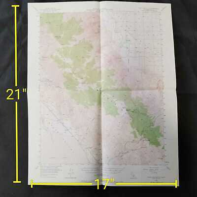 Vintage 1950 USGS New York Butte California Topographic Map