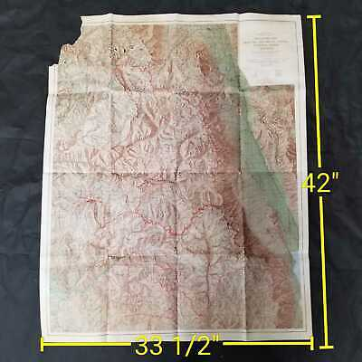 Vintage 1965 USGS Sequoia And Kings Canyon National Park California Map