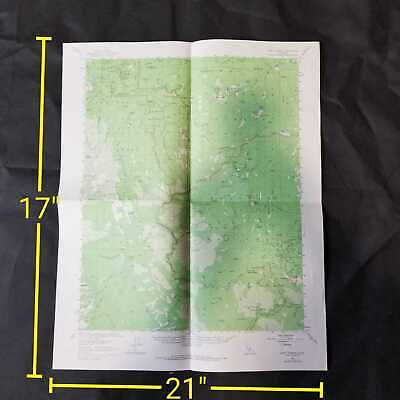 Vintage 1967 USGS Giant Forest California Topographic Map