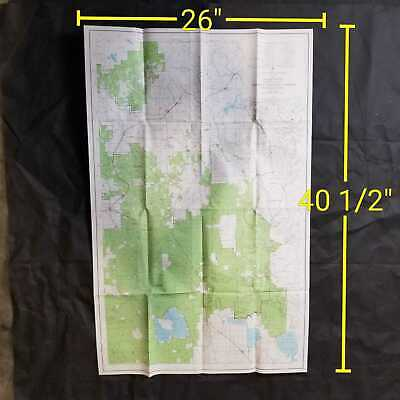 Vintage 1970 USDA Modoc National Forest California Topographic Map