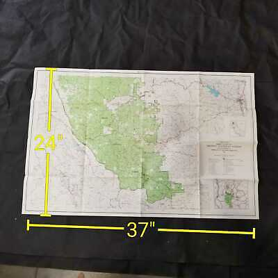 Vintage 1969 USDA Trinity National Forest California Topography Map