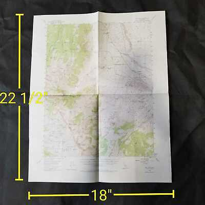 Vintage 1949 USGS Mt. Tom California National Forest Topographic Map