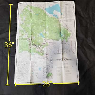 Vintage 1971 USDA Plumas National Forest California Topographic Map
