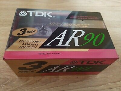 TDK AR90 Cassete 3 Pack New
