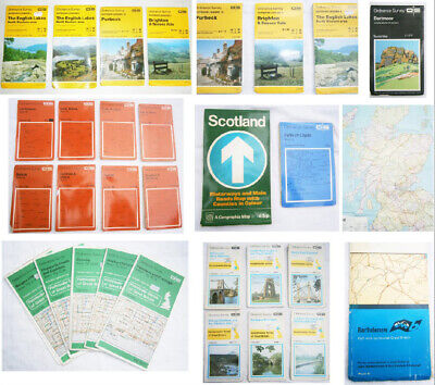 Bulk Lot 29 x OS Ordnance Survey Maps Scotland Lake District England Wales