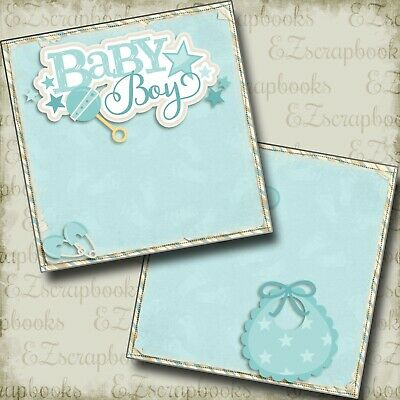 Little Prince 12x12 Premade Scrapbook Page Layout Baby Boy