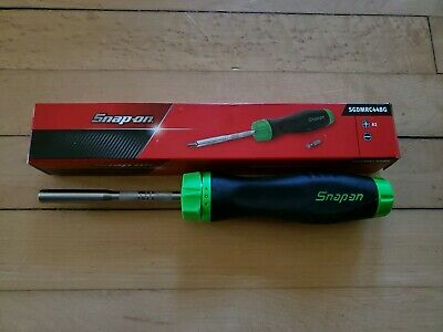 *NEW* Snap On SGDMRC44BG Ratcheting Soft Grip GREEN Screwdriver FREE PRIORITY