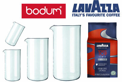 Bodum Replacement Jugs for Cafetiere, with Lavazza Ground coffee option.