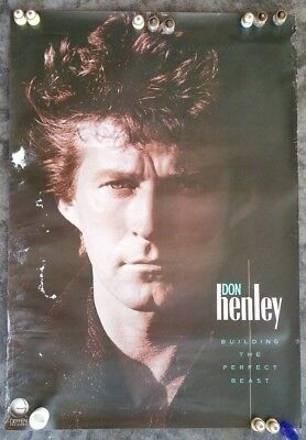 "Original DON HENLEY ""Building The Perfect Beast"" InStore Promotional POSTER-1984"