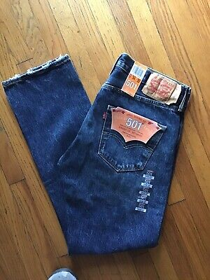 736eec73 $68 LEVI'S 501 Levi Strauss Straight Leg Jeans Button Fly NWT Men's 34 x 32