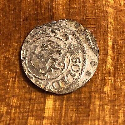 Authentic Medieval European Silver Coin Middle Ages Artifact Token Medal Rare N