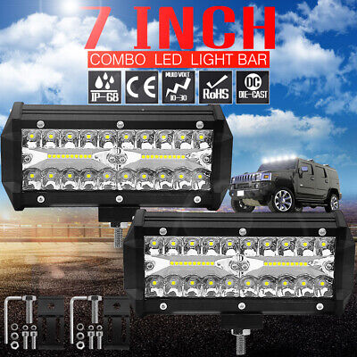 7inch LED Work Light Bar Spot Off-Road Roof Power Driving Truck Flood Beams Lamp