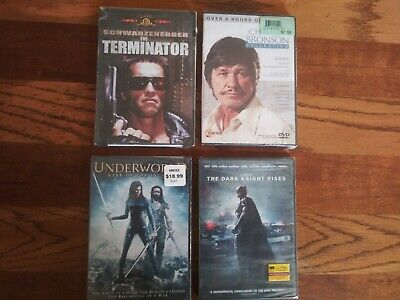 Action Movie DVD LOT:  4 movies. Charles Bronson, Schwarzenegger~The Terminator