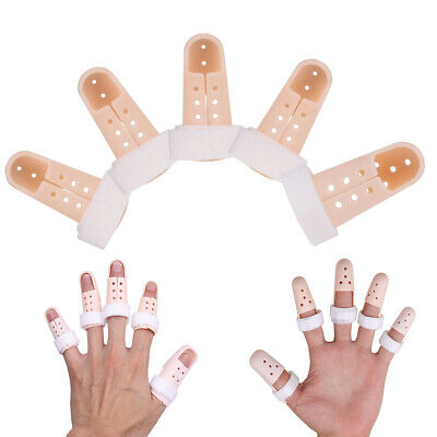 5PCS Plastic Finger Splint Brace Mallet Protector Support Joint Pain Immobilizer